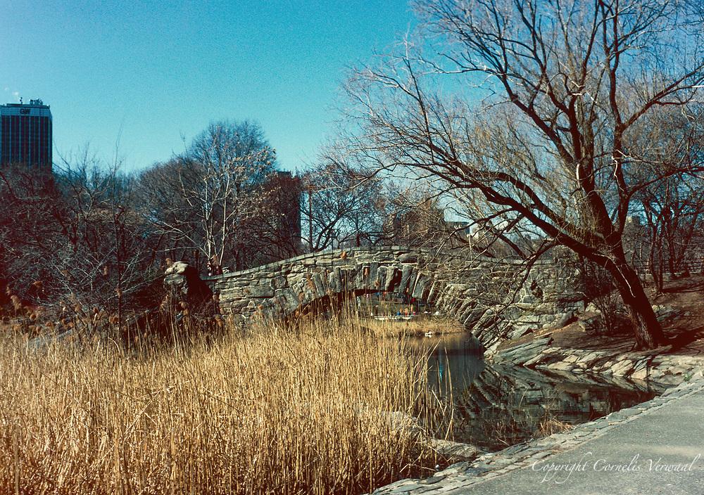 Gapstow Bridge in Central Park, 1989.