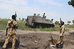 MALAKAL, Oct. 17, 2016 (Xinhua) -- Photo taken on Oct. 16, 2016 shows South Sudan's government soldiers at a battle field in Alelo near South Sudan's northern town of Malakal. Fresh clashes between government and opposition forces near the northern town of Malakal have killed at least 56 over the weekend, a military spokesman said late Sunday. (Xinhua/Gale Julius) (dtf) (Credit Image: © Gale Julius/Xinhua via ZUMA Wire)