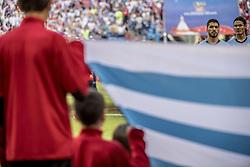June 25, 2018 - Samara, Russia - FIFA World Cup 2018 Luis SuÁrez och Edinson CavaniFotbolls-VM, match 33, Uruguay-Ryssland, Samara Stadium. Uruguay vs Russia, Group A, Samara Arena, Samara, Russia, 25 June 2018, (Credit Image: © Orre Pontus/Aftonbladet/IBL via ZUMA Wire)