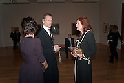 MELANIE CLORE; SIR NICHOLAS SEROTA; LADY FOSTER, Picasso and Modern British Art, Tate Gallery. Millbank. 13 February 2012