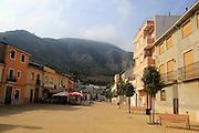 Village street Simat de la Valldigna, Valencia province, Spain