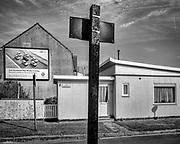 Ghent, Belgium, 18 sep 2014, Lubeckstraat, old scandinavian houses