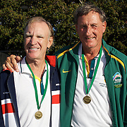Fred Drilling, USA, (left) and Henry Michael, Australia, 65 Mens Doubles Winners during the 2009 ITF Super-Seniors World Team and Individual Championships at Perth, Western Australia, between 2-15th November, 2009.