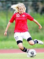 Fotball , <br /> Trening landslaget jenter 15 , <br /> J15 , <br /> 07.08.08 , <br /> Toppidrettssenteret i Oslo , <br /> Norge - Oslo Kretslag , <br /> Nina Thorne , <br /> Foto: Thomas Andersen / Digitalsport