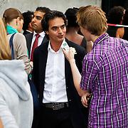 NLD/Amsterdam/20100721 - Huwelijk van Kim Feesntra en DJ Michael Mendoza, vader Kim Feenstra
