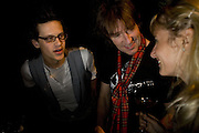 Ian Giles, Tim Graham and Virginia Dampsta, Andrey Bartenev ' Disco-Nexion' Riflemaker. Beak St. Soho. London. 7 January 2008. -DO NOT ARCHIVE-© Copyright Photograph by Dafydd Jones. 248 Clapham Rd. London SW9 0PZ. Tel 0207 820 0771. www.dafjones.com.