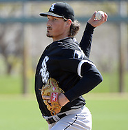 GLENDALE, AZ - MARCH 03:  Jeff Samardzija #29 of the Chicago White Sox looks on during a spring training intrasquad game on March 3, 2015 at The Ballpark at Camelback Ranch in Glendale, Arizona. (Photo by Ron Vesely)   Subject:   Jeff Samardzija