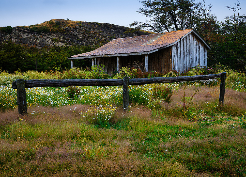 NATIONAL PARK TORRES DEL PAINE, CHILE - CIRCA FEBRUARY 2019:  Abandoned ranch home around Torres del Paine National Park, Chile.