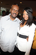 """l to r: Walter Greene and La Rivers at b.michael America Spring 2010 Collection """" Advanced American Style """" held at Christie's in Rockefeller Plaza on September 16, 2009 in New York City."""