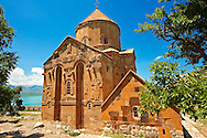 10th century Armenian Orthodox Cathedral of the Holy Cross on Akdamar Island, Lake Van Turkey 61 .<br /> <br /> If you prefer to buy from our ALAMY PHOTO LIBRARY  Collection visit : https://www.alamy.com/portfolio/paul-williams-funkystock/lakevanturkey.html<br /> <br /> Visit our TURKEY PHOTO COLLECTIONS for more photos to download or buy as wall art prints https://funkystock.photoshelter.com/gallery-collection/3f-Pictures-of-Turkey-Turkey-Photos-Images-Fotos/C0000U.hJWkZxAbg
