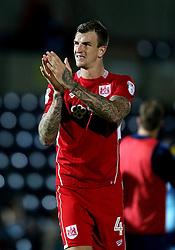 Aden Flint of Bristol City applauds the fans - Mandatory by-line: Robbie Stephenson/JMP - 09/08/2016 - FOOTBALL - Adams Park - High Wycombe, England - Wycombe Wanderers v Bristol City - EFL League Cup