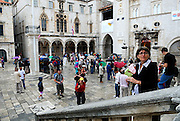 View from the steps of the Church of Saint Blaise (Sveti Vlaha), Dubrovnik old town, Croatia