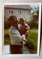Pic of David's dad, James Buchanan McAllister, with David as a child..COLLECT PICS from the half-Scottish Prime Minister David McAllister of Lower Saxony..©Michael Schofield.