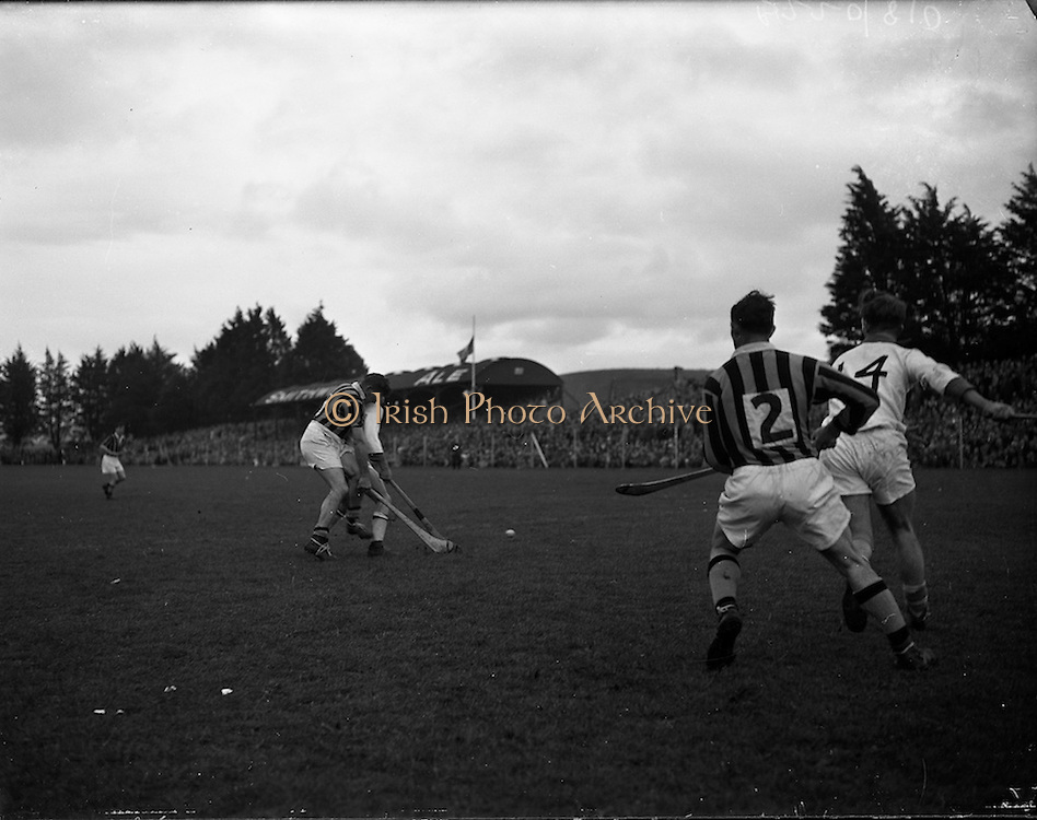 25/10/1959<br /> 10/25/1959<br /> 25 October 1959<br /> The first round of National League Hurling at Kilkenny: Waterford v Kilkenny. Parnell St James St shop Marlbororgh St