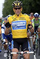 Sykkel<br /> Tour de France 2005<br /> 21. etappe<br /> 24.07.2005<br /> Foto: PhotoNews/Digitalsport<br /> NORWAY ONLY<br /> <br /> LANCE ARMSTRONG ( SEVEN TOUR DE FRANCE WINNER )