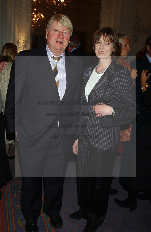 MR & MRS STANLEY JOHNSON at a party to celebrate the publication of 'Princesses' the six daughters of George 111 by Flora Fraser held at the Saville Club, Brook Street, London W1 on 14th September 2004.<br />