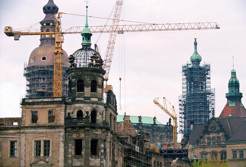 Rebuilding in Dresden, Germany.