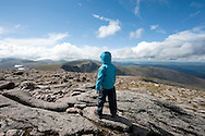 Little girl on the summit of Cairn Gorm Mountain, Cairngorms national park, Scotland © Rudolf Abraham