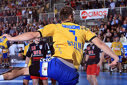 Matjaz_Brumen at handball match of 4th Round of EHF Men Championsleague between RK Cimos Koper (SLO) and Steaua MFA Bucuresti (ROM), in Arena Bonifika, Koper, Slovenia, on November 8, 2008. Steaua  won the match 30:29.