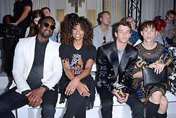 Dwayne Wade, Gabrielle Union, Brandon Flynn and Tommy Dorfman attending the Balmain show during the Paris Men's fashion Week Spring Summer 2018, in Paris, France on june 24, 2017. Photo by Aurore Marechal/ABACAPRESS.COM