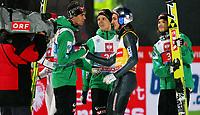 Hopp<br /> FIS World Cup<br /> Bischofshofen Østerrike<br /> 06.01.2013<br /> Foto: Gepa/Digitalsport<br /> NORWAY ONLY<br /> <br /> FIS Weltcup der Herren, Vierschanzen-Tournee. Bild zeigt Anders Bardal, Andreas Stjernen (NOR), Gregor Schlierenzauer (AUT) und Tom Hilde (NOR).