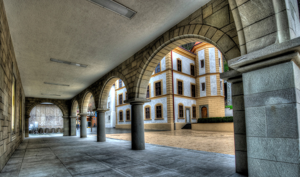 Arches on the Städtle street in Vaduz