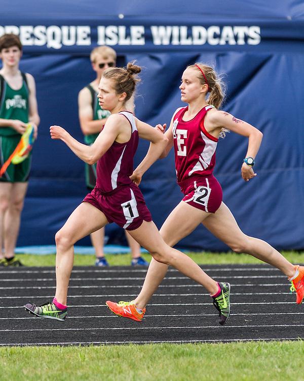 Maine State Track & Field Meet, Class B: girls 1600 meters, Kristen Sandreuter, Greely, Aleta Looker, Ellsworth