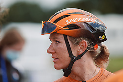 Amy Pieters (NED) at the 2020 UEC Road European Championships - Elite Women Road Race, a 109.2 km road race in Plouay, France on August 27, 2020. Photo by Sean Robinson/velofocus.com