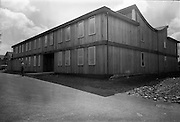 04/06/1964<br /> 06/04/1964<br /> 04 June 1964<br /> Sisk's new offices and premises at Naas Road, Clondalkin, Dublin. Exterior view of the new office building.