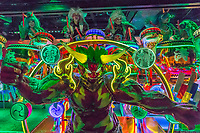 At the Robot Restaurant in Kabukicho Shinjuku, robotic women and demons stage mock battles in this steroid heavy attraction with neon, mirrors and huge video screens. There are four 90-minute shows each night, in which the staff take to the floor on giant robots, including a neon tank and female borgs sometimes powered with with pneumatic bursts and puffs of steam. Do not task what the dances mean or the shows or costumes are supposed to represent, if anything, it is all about color, choreography, madness and overkill.