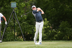 May 25, 2019 - Fort Worth, TX, U.S. - FORT WORTH, TX - MAY 25: Mackenzie Hughes hits from the 6th tee during the third round of the Charles Schwab Challenge on May 25, 2019 at Colonial Country Club in Fort Worth, TX. (Photo by George Walker/Icon Sportswire) (Credit Image: © George Walker/Icon SMI via ZUMA Press)