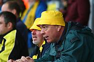 Burton Albion fans brave the rain during the EFL Sky Bet Championship match between Burton Albion and Wolverhampton Wanderers at the Pirelli Stadium, Burton upon Trent, England on 30 September 2017. Photo by John Potts.