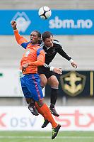 Fotball, <br /> 30.06.2011 , <br /> europa league , <br /> 1 quaql 1 leg,<br /> Aalesund - neath fc 4-1 ,<br /> Color line stadion ,  <br /> <br /> Jason morrison - aalesund<br /> Luke bowen - neath fc<br /> Foto: Richard brevik , Digitalsport
