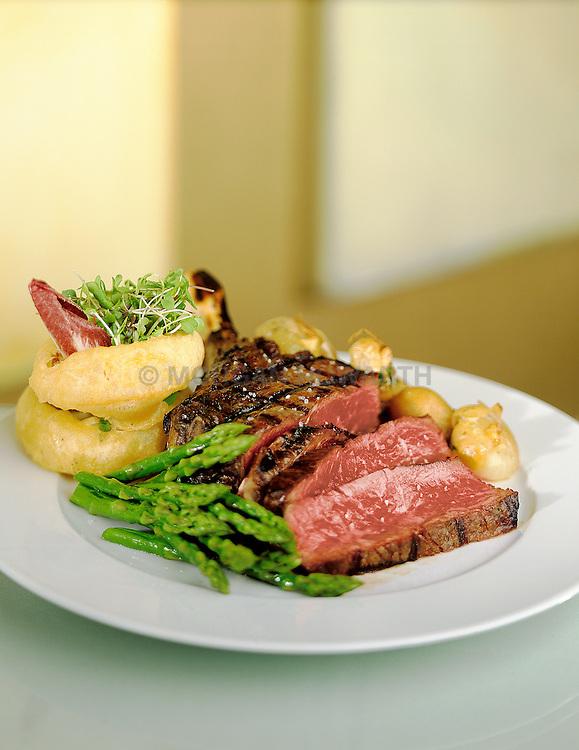 Beef restaurant dish at Azure Restaurant in Boston Massachusetts