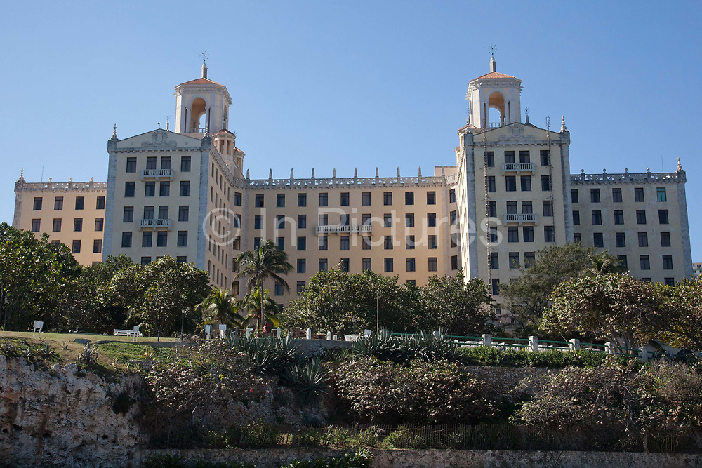Hotel National, National Hotel, Vedado, Havana. One of the most iconic Hotels in Havana, it was once a den of iniquity for the gangsters and hustlers that made Havana their playground in the 1930's. 1940's and 1950's.
