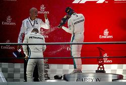 July 22, 2018 - Hockenheim, Germany - Motorsports: FIA Formula One World Championship 2018, Grand Prix of Germany, .Dr. Dieter Zetsche (Chairman of the Board of Management of Daimler AG, Head of Mercedes-Benz Cars), #77 Valtteri Bottas (FIN, Mercedes AMG Petronas Motorsport), #44 Lewis Hamilton (GBR, Mercedes AMG Petronas Motorsport) (Credit Image: © Hoch Zwei via ZUMA Wire)