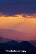 65845-00614 Sunset and mountains along Blue Ridge Parkway   NC