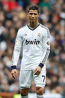 27.01.2013 SPAIN -  La Liga 12/13 Matchday 21th  match played between Real Madrid CF vs Getafe C.F. (4-0) at Santiago Bernabeu stadium. The picture show Cristiano Ronaldo (Portuguese forward of Real Madrid)