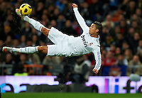 MADRID, SPAIN - NOVEMBER 20:  Cristiano Ronaldo of Real Madrid in action during the la liga match between Real Madrid and Athletic Bilbao at Estadio Santiago Bernabeu on November 20, 2010 in Madrid, Spain.  (Photo by Manuel Queimadelos Alonso/Getty Images) *** Local Caption *** Cristiano Ronaldo