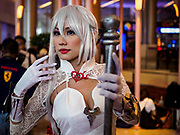 05 NOVEMBER 2017 - BANGKOK, THAILAND: Cosplayers in Paragon during a cosplay event at the upscale shopping mall in the center of Bangkok.     PHOTO BY JACK KURTZ