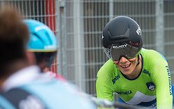 Eugenia Bujak of Slovenia reacts after Women Time Trial at UCI Road World Championship 2020, on September 24, 2020 in Imola, Italy. Photo by Vid Ponikvar / Sportida