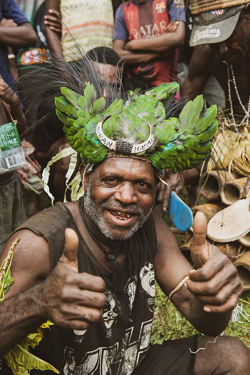 Portrait of a man in Papua New Guinea wearing a KISS t-shirt. The photos was taken in Yar village in the East Sepik Province as the community was celebrating the dedication of the New Testament into the Waran language, one of the hundreds of languages in the country. (June 22, 2019)