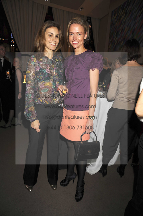 Left to right, DONELLA TARANTELLI and FELICIA BROCKLEBANK at the Asprey Winter Wonderland party held at their store, 167 New Bond Street, London on 4th December 2008.