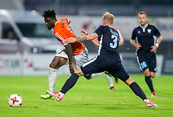 Kyrian Nwabueze of Shirak vs Uros Celcer of Gorica during 2nd Leg football match between ND Gorica and FC Shirak in 1st Qualifying Round of UEFA Europa League 2017/18, on July 6, 2017 in Nova Gorica, Slovenia. Photo by Vid Ponikvar / Sportida