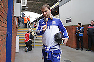 Branislav Ivanovic of Chelsea gives a thumbs up to the Chelsea fans as he arrives at Selhurst Park before k/o. Barclays Premier League match, Crystal Palace v Chelsea at Selhurst Park in London on Sunday 3rd Jan 2016. pic by John Patrick Fletcher, Andrew Orchard sports photography.