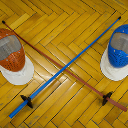 20150114: SLO, Fencing - Children at training of fencing