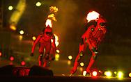 Fire-Skater beim Einlauf ins Stadion © Thomas Oswald/EQ Images