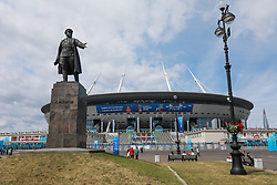 June 19, 2018 - SãO Petersburgo, Rússia - SÃO PETERSBURGO, MO - 19.06.2018: RUSSIA VS EGYPT - Statue of Sergey Mironovic Kirov in front of Zenit Arena in St. Petersburg, Russia, which receives today the match between Russia and Egypt. In this same place Brazil will make its second Match in the 2018 World Cup Russia  (Credit Image: © Ricardo Moreira/Fotoarena via ZUMA Press)