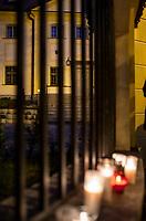Bialystok, 17.05.2020. Protest pod bialostocka kuria archidiecezjalna pod haslem DOSC ZABAWY W CHOWANEGO, przez co dzialacze Lewicy chca okazac solidarnosc z ofiarami ksiezy pedofili fot Michal Kosc / AGENCJA WSCHOD