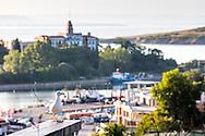 Port of Sozopol at sunset